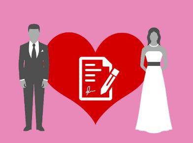 Составление брачного договора: форма, содежание, образцы